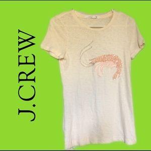 Jcrew Shrimp 🍤 beaded T-shirt, Size: S